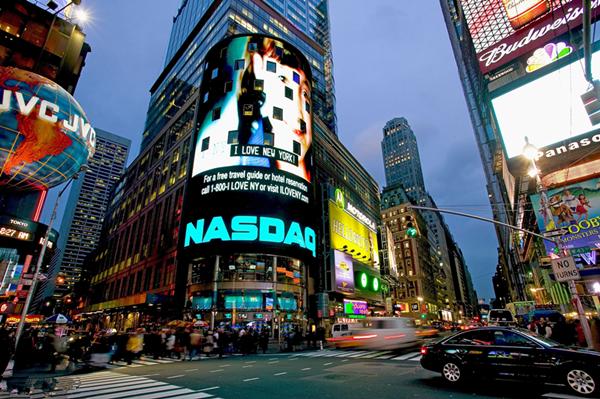 现在纳斯达克大屏广告费用是多少?最便宜是多少?