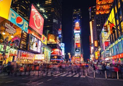想在美国纽约的时代广场上打广告,大概需要花费多少钱?