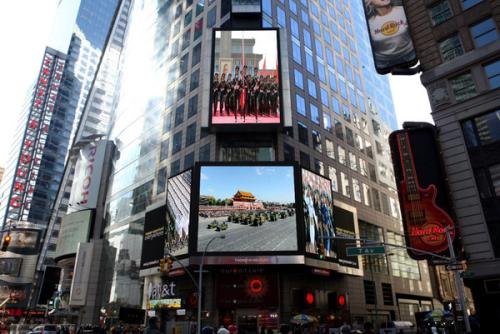 美国纽约时代广场大屏 天美意创意广告宣传