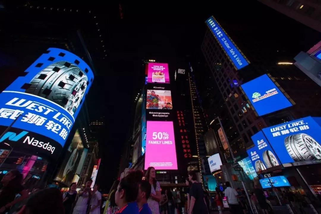登陆纽约时代广场大屏广告的价值在哪里?